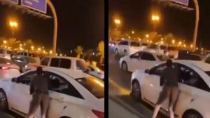 اقدام شجاعانه اما خطرآفرین پلیس برای دستگیری راننده متخلف!