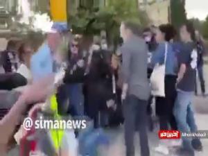 رفتار خشونت آمیز پلیس رژیم صهیونیستی با زن معترض چپگرا