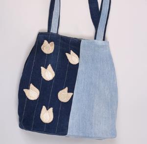 با شلوار جین های کهنه کیف دستی بدوزید