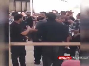 عزاداری مردم در پشت مرز شلمچه و اندوه نیروهای امنیتی عراق