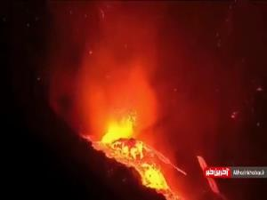 فاجعه در اسپانیا؛ آتشفشان لاپالما همچنان خانهها را خاکستر می کند