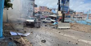 انفجار خودروی بمبگذاری شده در نزدیکی کاخ ریاست جمهوری سومالی