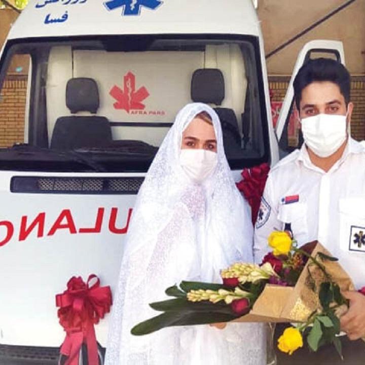 ناگفتههای پرستار اورژانس که عقدش در آمبولانس پربازدید شد