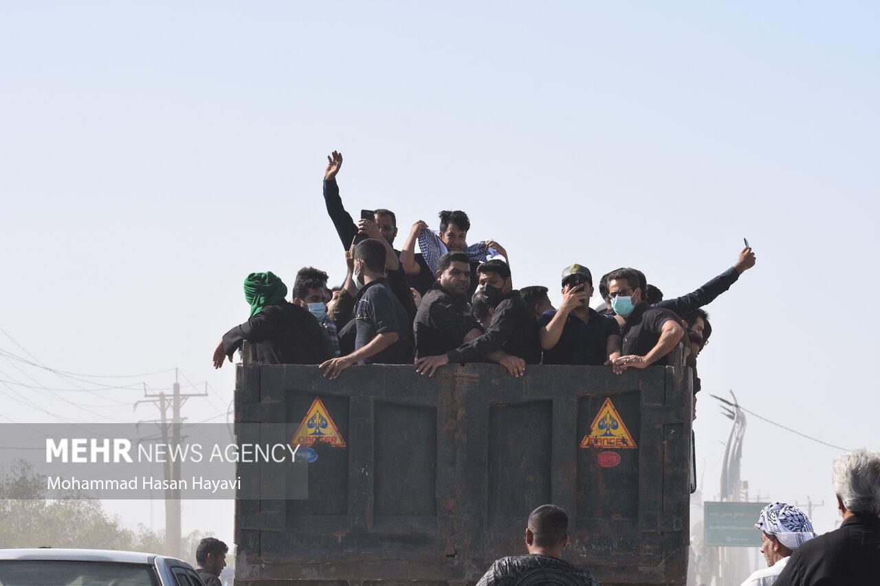 عکس/ ازدحام زائران اربعین در مرز شلمچه