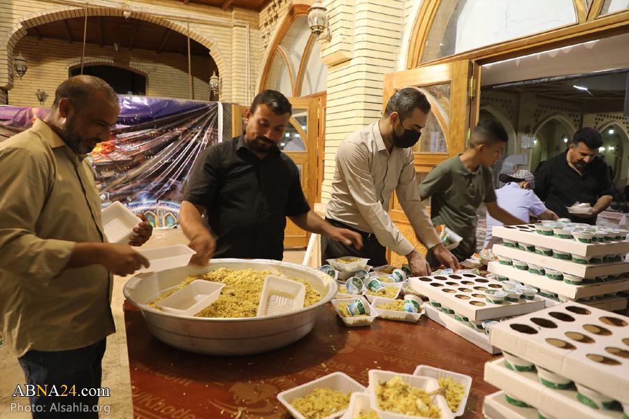 خدمت رسانی به زائران اربعین در مسجد سهله