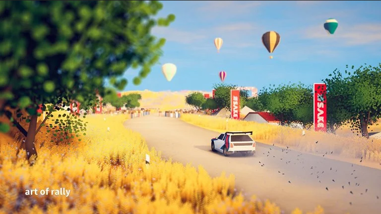 بازی Art of Rally در راه کنسول های پلی استیشن