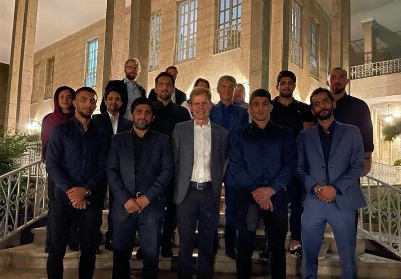 میهمانی سفارت نروژ برای مدالآوران المپیکی کشتی ایران