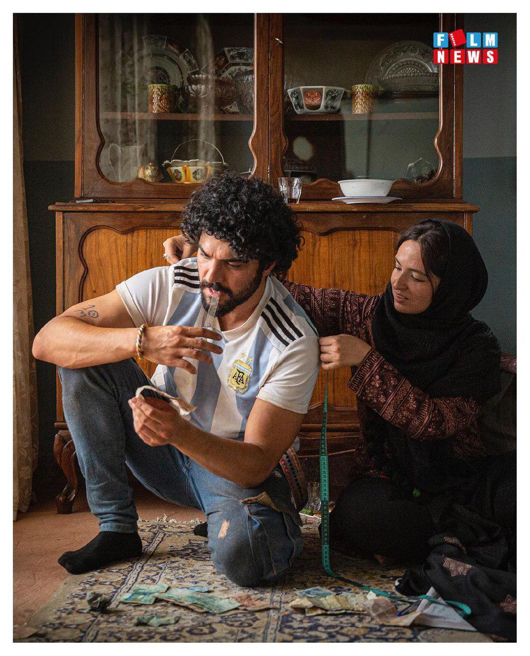 نخستین عکس از سینا مهراد و گلاره عباسی در «شادروان»