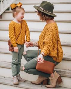 ست لباس پاییزه مادر و دختر