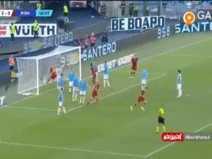 گل اول رم به لاتزیو توسط ایبانز در دقیقه 41