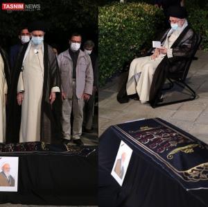 رهبر انقلاب دقایقی پیش بر پیکر علامه حسنزاده آملی اقامه نماز کردند