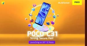 گوشی جدید پوکو با نام POCO C31 بزودی معرفی میشود