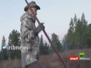 ماهیگیری ولادیمیر پوتین در تعطیلات