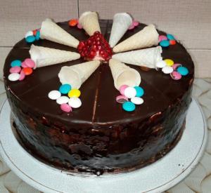از شما/کیک تولد شکلاتی