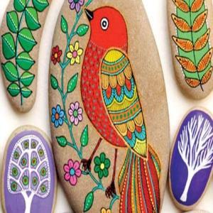 ایده جذاب نقاشی روی سنگ
