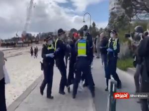 هجوم عجیب پلیس استرالیا برای دستگیری دو شهروند بدون ماسک در کنار ساحل!