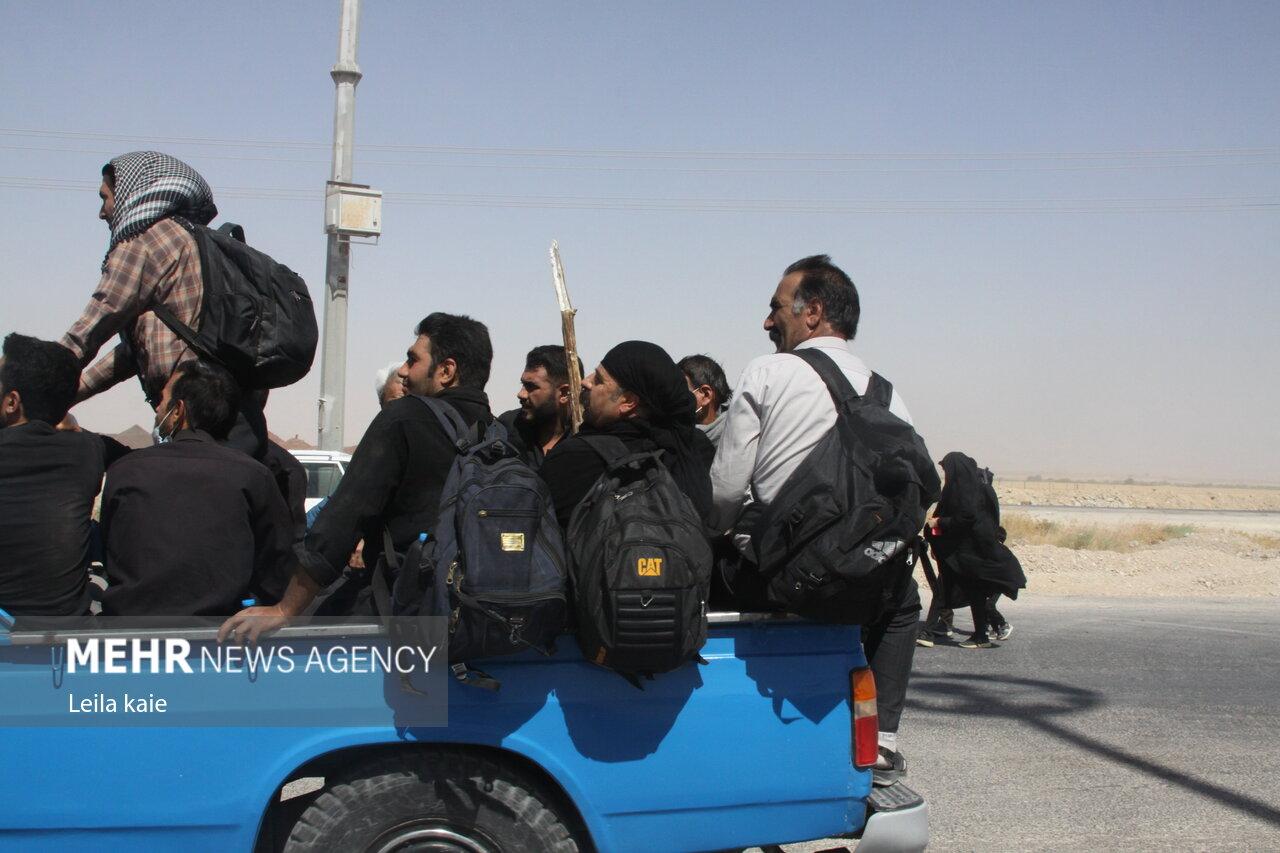 عکس/ ازدحام زائران پس از بازگشایی موقت مرز مهران