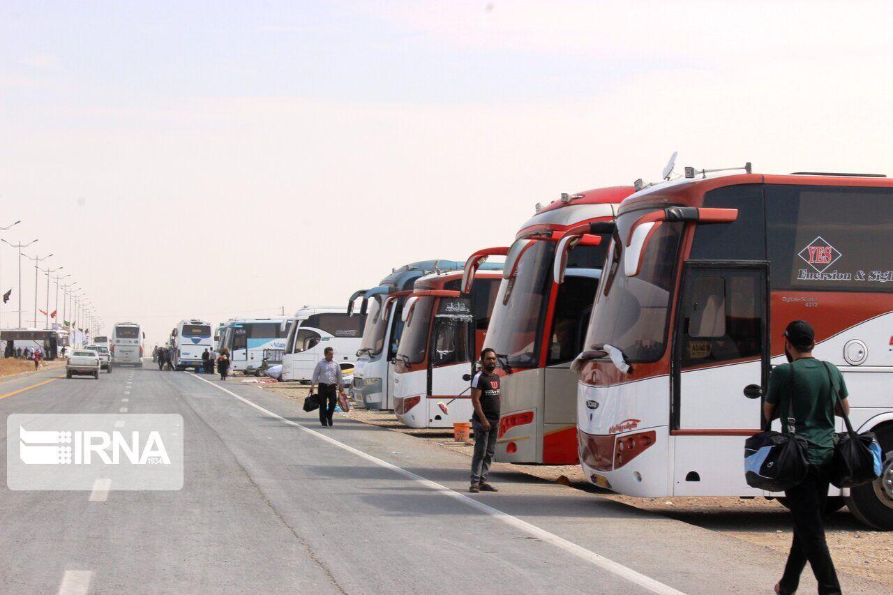 ۱۲۰۰ دستگاه اتوبوس برای بازگشت زائران در مهران نیاز است