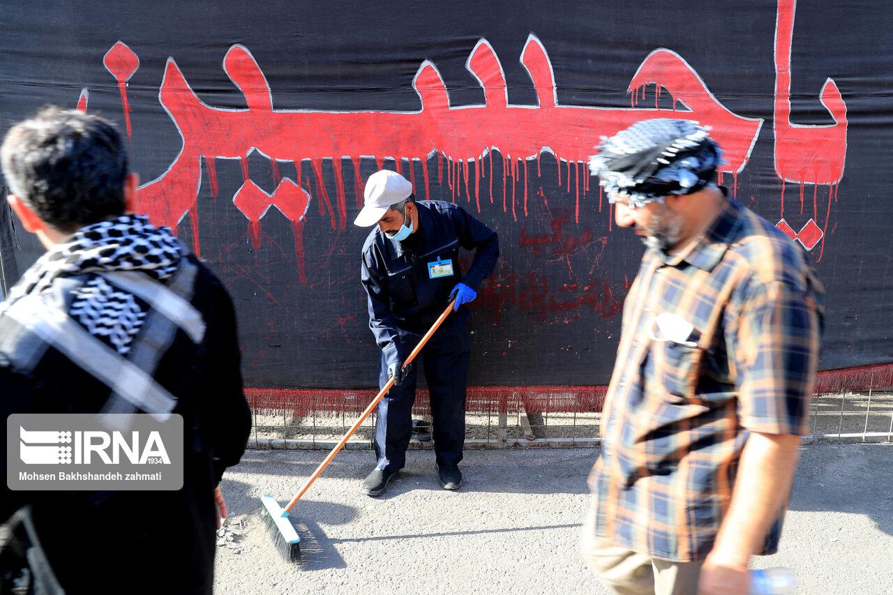 عکس/ خدمت رسانی خدامالحسین (ع) شهرداریهای ایران در نجف