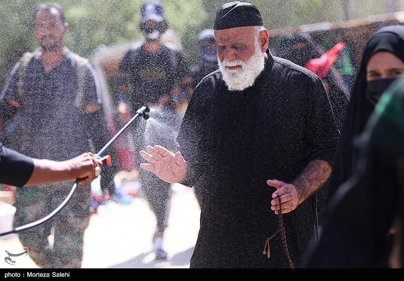 عکس/ پیاده روی زائرین اربعین حسینی در مسیر نجف به کربلا