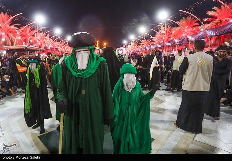 عکس/ حال و هوای بین الحرمین در شب اربعین حسینی