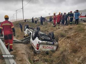 واژگونی تویوتا در بجنورد ۳ مصدوم برجای گذاشت