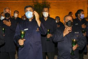مراسم لالهگردانی خدام حرمین احمدی و محمدی(ع) در شیراز