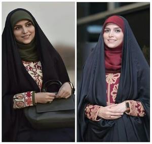 2 مدل ترفند بستن روسری با چادر