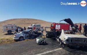 حادثه تلخ رانندگی در اهر ۲ کشته و زخمی به جا گذاشت