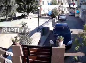 لحظه وقوع زمینلرزه ۵.۸ ریشتری در یونان