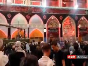 ویدیویی از حال و هوای حرم امام حسین (ع) در شب اربعین