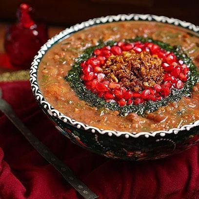 روش پخت «آش انار» خوشمزه و پاییزی