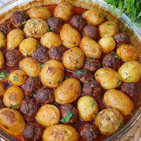 طرز تهیه خوراک سیب زمینی و گوشت قلقلی خوشمزه ترکیه ای
