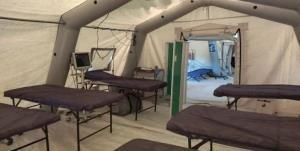 برپایی بیمارستان تخصصی صحرایی در مهران
