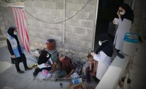 انجام واکسیناسیون کرونا در روستاهای صعبالعبور و کوهستانی جم