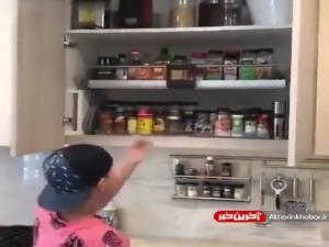 طرحی بسیار جالب برای کابینت آشپزخانه!