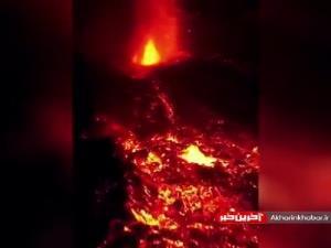 تصاویر جدید پهپادی از گدازه های آتشفشان لاپالما
