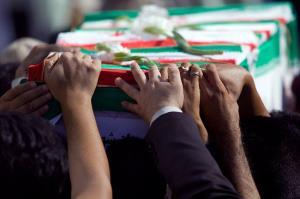 تشییع پیکر یک شهید گمنام در موکب شهدای کارگر دزفول