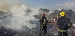 آتشسوزی انبار ضایعات کارتن در تبریز