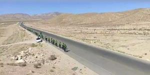 کاروان دوچرخهسواران شهدای نردین سمنان در مسیر مشهد