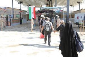 ورود بیش از ۶۲ هزار زائر اربعین از مرز مهران به کشور