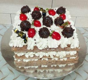 از شما/کیک تولد شکلاتی با طعم نسکافه