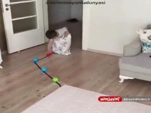 ایده ی ترکیب بازی حرکتی با فکری برای کودک زیر4سال