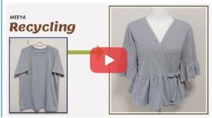 آموزش بازیافت لباس؛ این قسمت تبدیل تی شرت به پیراهن