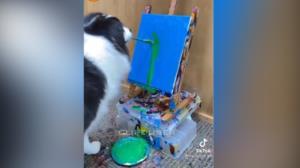 سگ با استعدادی که به طرز عجیبی نقاشی میکشد!