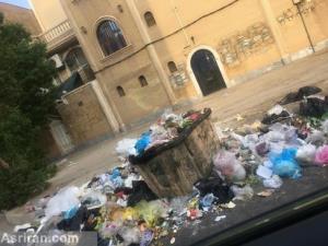 عکس/ انباشته شدن زبالهها در خیابانهای اهواز