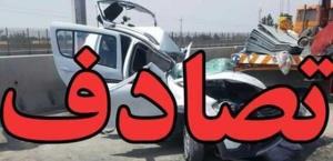 مرگ ۴ عضو یک خانواده در پی برخورد پژو پارس با کامیون