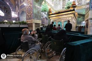 حالوهوای خوش زیارت روز شهادت امام مهربانیها در روضه منوره رضوی
