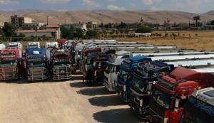 حرکت کاروان ۶۰ تانکری حامل سوخت ایران از مرز سوریه به سوی لبنان