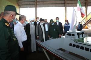 رئیسجمهور از مراحل ساخت و تکمیل ناو شهید سلیمانی بازدید کرد